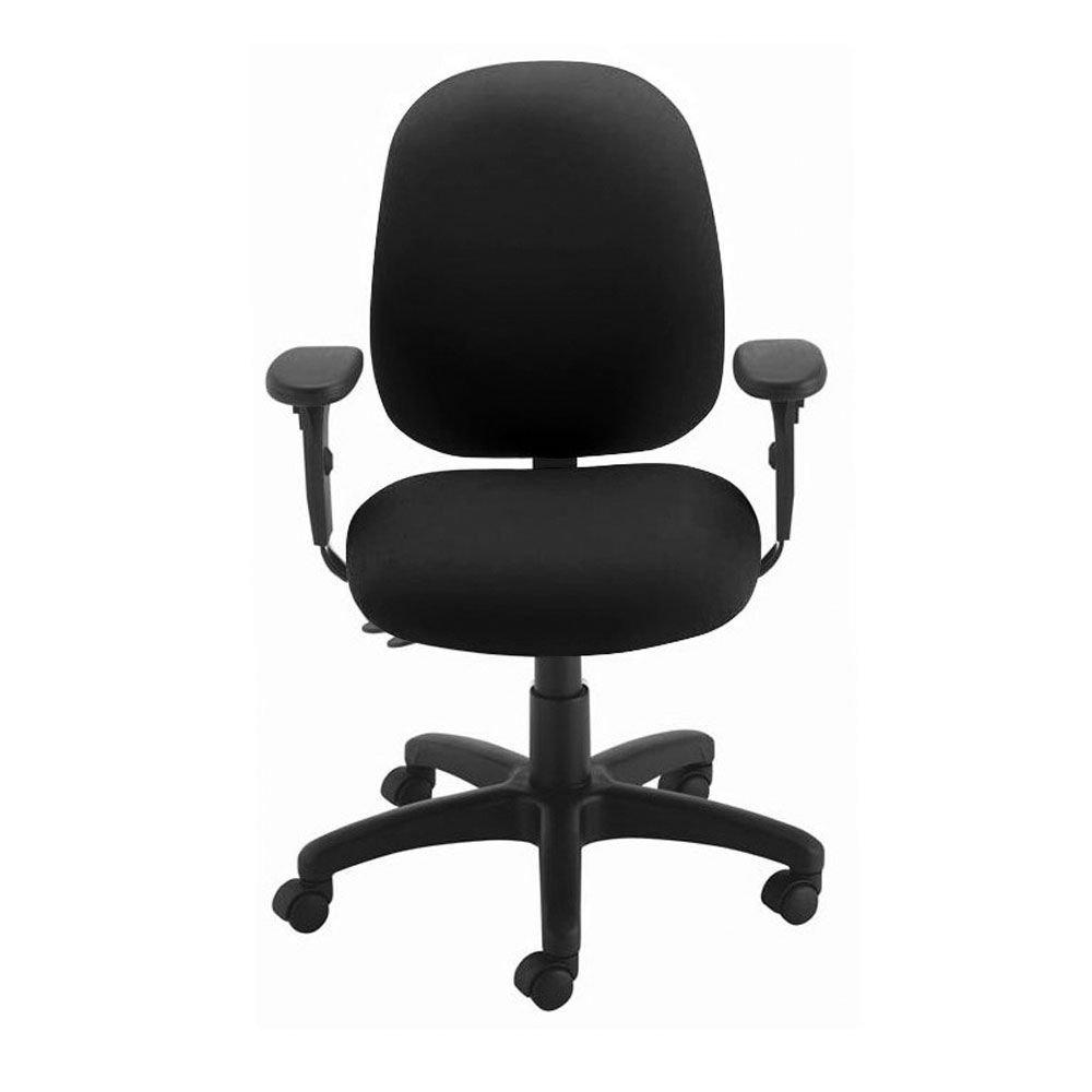 Presto Fabric Petite Ergonomic Chair Dimensions: 23''W x 17.25''D x 35''H Seat Dimensions: 19''Wx17.75''Dx15.5-20''H Black Fabric/Black Base