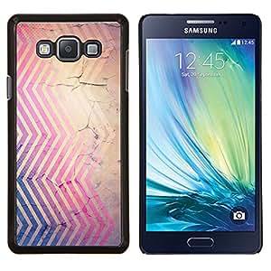 LECELL--Funda protectora / Cubierta / Piel For Samsung Galaxy A7 A7000 -- Líneas Rústico pintura descascarada púrpura --