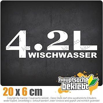 42l Wischwasser 20 X 6 Cm In 15 Farben Neon Chrom Jdm Sticker Aufkleber