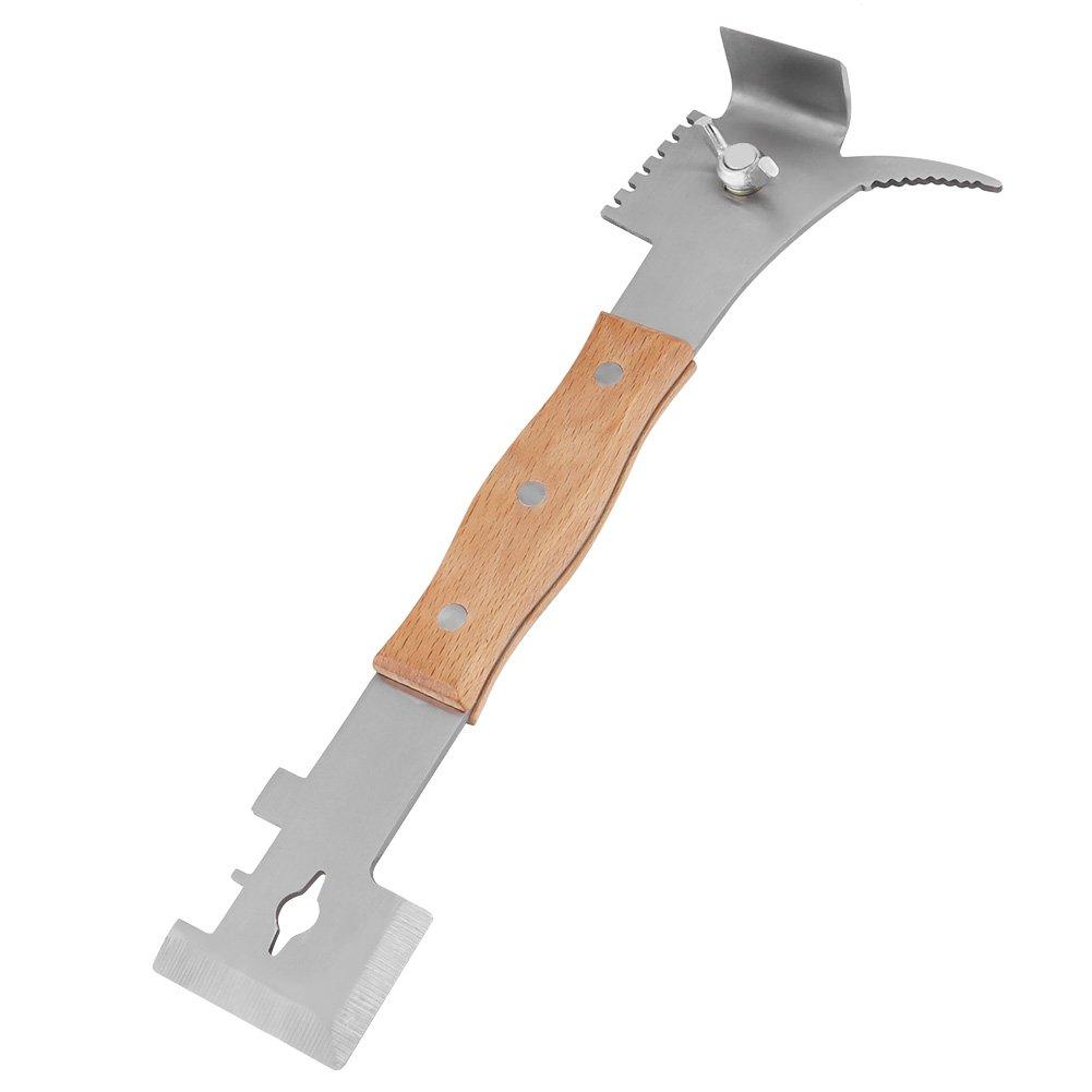 GOTOTOP 25cm Outil Ruche Lève-Cadres, Grattoir Multifonction Outil Apiculture en Acier Inoxyable pour Apiculteur (Modèle 2)