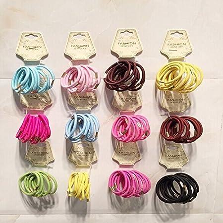 PIXNOR - 50 unidades variadas de colas elásticas para el caballo, variadas, accesorios variados, color de la cuerda