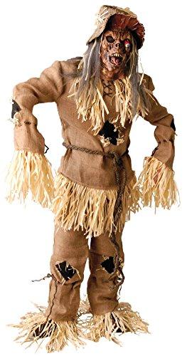 [UHC Men's Mega Scarecrow Horror Theme Party Adult Halloween Costume, OS] (Scarecrow Adult Plus Costumes)