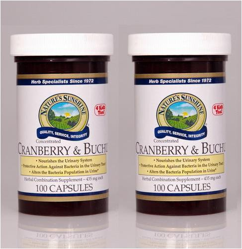 Naturessunshine Cranberry and Buchu Conc. 100 Capsules (Pack of 2)