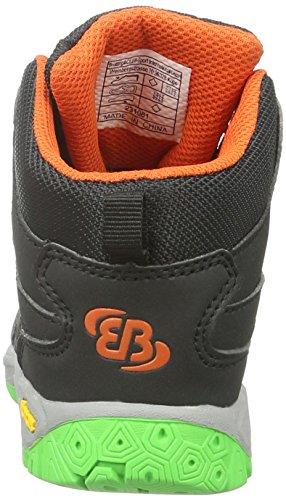 EB kids Riverside, Zapatos de High Rise Senderismo Unisex Niños Negro (SCHWARZ/ORANGE)