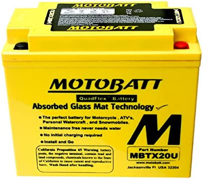 NICHE AGM Battery w//charger for YTX20HL fits Polaris Sportsman 800