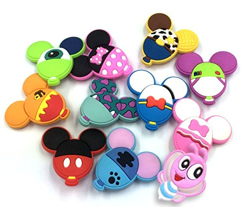 11pcs Cute Balloon Shape shoe charms Fits for Croc Shoes & Wristband Bracelet Party Gifts ()