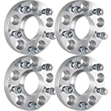 "ECCPP Hubcentric Wheel Spacers 4PCS 1"" 5x4.75 to 5x4.75 for Chevy Impala Blazer Buick Riviera GMC S15 Jimmy Pontiac with 12x1.5 Studs"