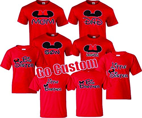 Mom, Dad, Son, Daughter, Big/Little Brother/Sister Family funny Matching (Disney Family T Shirts)