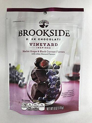 Brookside Dark Chocolate Vineyard Inspired flavors Merlot Grape and Black Currant 6oz