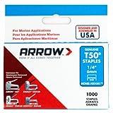 Arrow Fastener 504M1 Monel Staples, T50, 1/4-In., 1,000-Pk. - Quantity 5