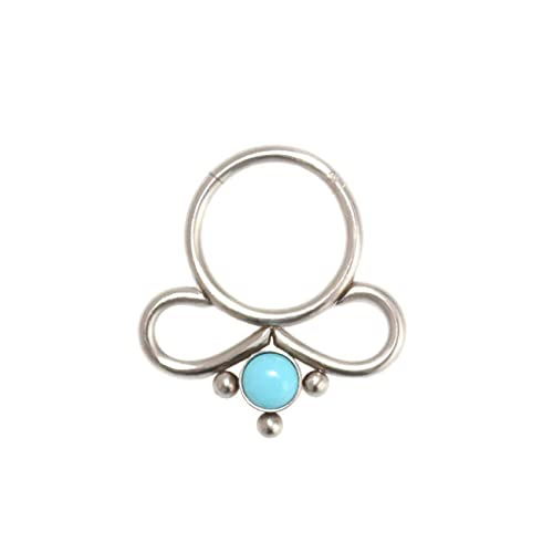 Amazon Com Septum Ring With Turquoise Daith Earrings Surgical