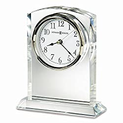 Diamond2Deal Flaire Arch Top Optical Crystal Table Clock Ideal Gift for Christmas