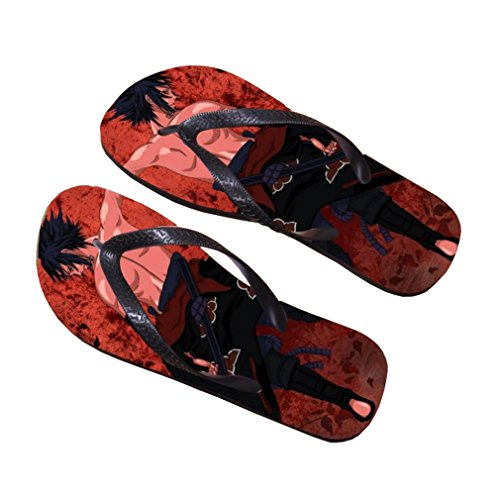 Bromeo Naruto Anime Unisex Flip Flops Zehentrenner Flip Pantoffeln 332