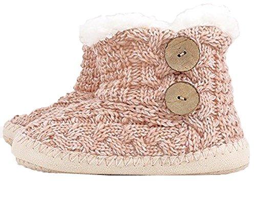 Urbanista Microfiber Slipper Boots Met Antislip Grip Zool En Natuurlijke Kokosnoot Knop Accent Blush