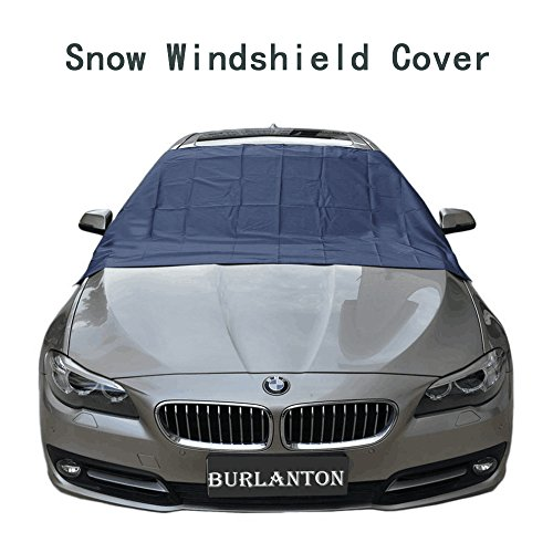 Upgrade Magnetic Edges Windshield Snow Cover - Frost Windshield Cover - All Seasons Design - Snow, Ice, Frost Guard, Sunshade No More Scraping - Door Flaps Windproof Fits Most Car, SUV, Truck - Edge Snow Flaps