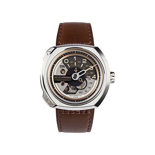 SEVENFRIDAY Men's Swiss Quartz Stainless Steel Watch, Color:White (Model: V2-01)