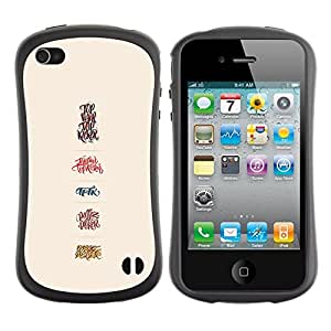 LASTONE PHONE CASE / Suave Silicona Caso Carcasa de Caucho Funda para Apple Iphone 4 / 4S / crush