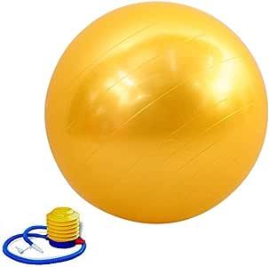 كرة يوجا مانعة للانفجار 65 سم لتمارين جيم واللياقة البدنية للحمل مع مضخة