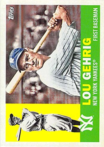 2017 Topps Archives #99 Lou Gehrig New York Yankees Baseball Card (Lou Gehrig New York Yankees)