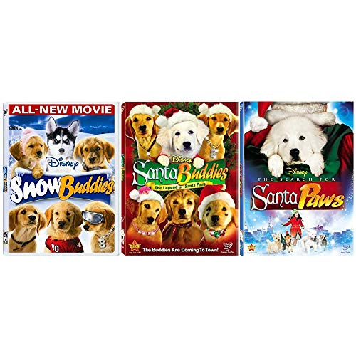 Air Buddies Christmas Collection: 3 Holiday Movies (Snow Buddies / Santa Buddies / The Search For Santa Paws) (Santa Buddies The Search For Santa Paws)
