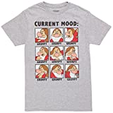 Fifth Sun Snow White Current Mood: Grumpy Adult T-Shirt - Heather Grey (X-Large)