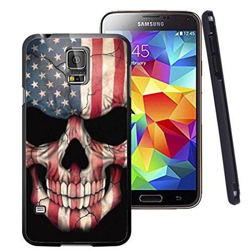 - Galaxy S5 Case Black Customized Black Soft Rubber TPU Samsung Galaxy S5 Black Case Flags & Skull Head