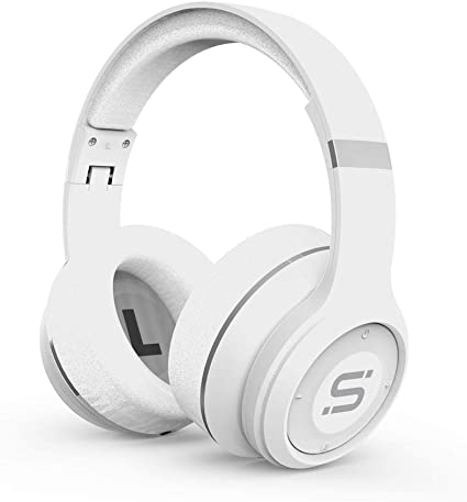 Amazon Com Somi Infinite Wireless Bluetooth Headphones Over Ear Headset Foldable Adjustable Comfortable Protein Earmuffs W Built In Mic And Wired Mode For Pc Cell Phones Tv White Home Audio Theater