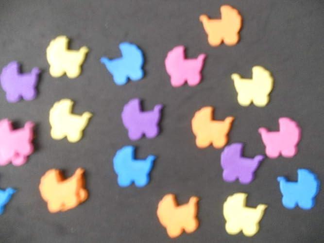 25 carritos de bebe de goma eva Silvys para decoración, manualidades,de 2,