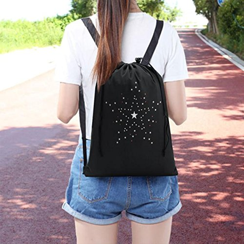 Clearance Stars Print Drawstring Sports Dance Bag Storage Backpack by Napoo-Bag (Image #1)