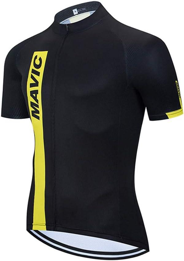 Maillot de Ciclismo para Hombre de Manga Corta Cremallera Superior para Bicicleta de montaña
