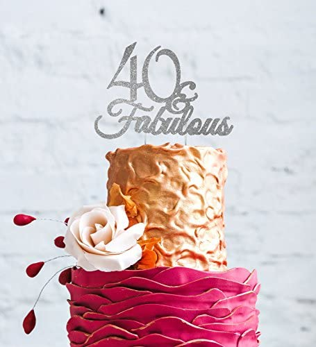 Pleasing Lissielou 40 Fabulous 40Th Birthday Cake Topper Silver Funny Birthday Cards Online Elaedamsfinfo