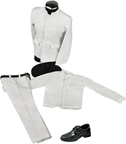 White Suit Jacket Pants Clothes Set for 1//6 Scale HOT TOYS ACTION FIGURE