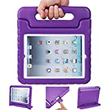 iPad mini case, ANTS TECH Light Weight [ Shockproof ] Cases Cover with Handle Stand for Kids Children for iPad mini 3 & iPad mini 2 & iPad mini (iPad Mini 123, Purple)