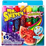 Mr. Sketch Washable Scented Watercolor Markers, Chisel-Tip, Set of 14, Assorted Colors (1924061)
