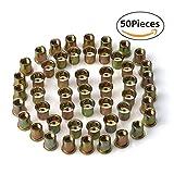 URBEST 50Pcs Steel Rivet Nut Rivnut Insert Nutsert 3/8-16