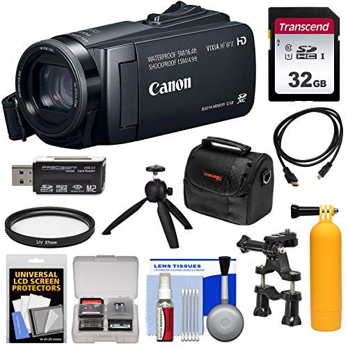 Canon Vixia HF W11 32GB 1080p HD Shock & Waterproof Video Camera Camcorder with 32GB Card + Tripod + Case + Kit