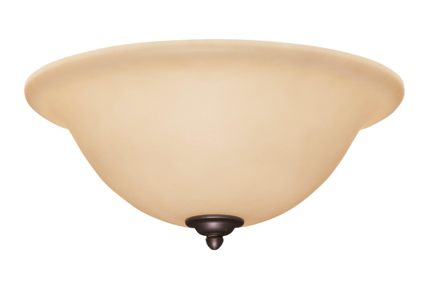 Emerson Ceiling Fans LK72ORB Amber Scavo Light Fixture for Ceiling Fans, Medium Base CFL
