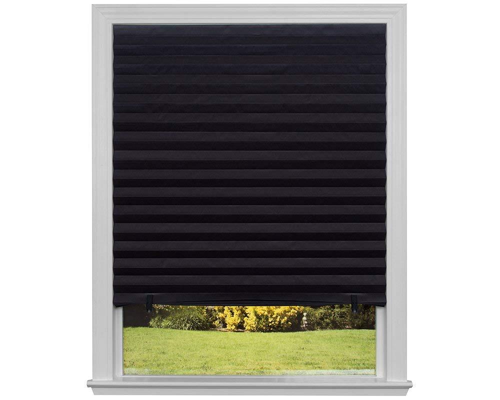 "Original Blackout Pleated Paper Shade Black, 36"" x 72"", 6-Pack (Certified Refurbished) 36"" x 72"" Redi Shade"