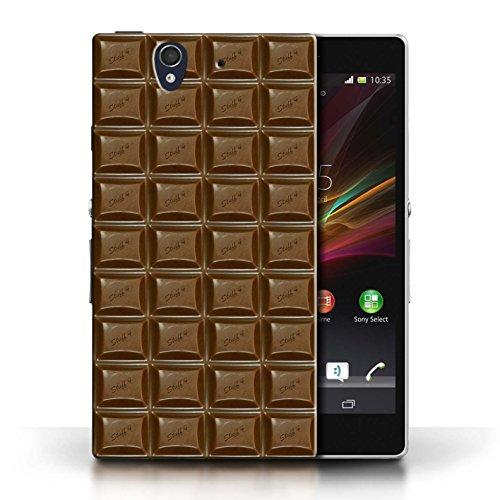 Coque en plastique pour Sony Xperia Z Collection Chocolat - Blocs Dairy Milk/Dalle