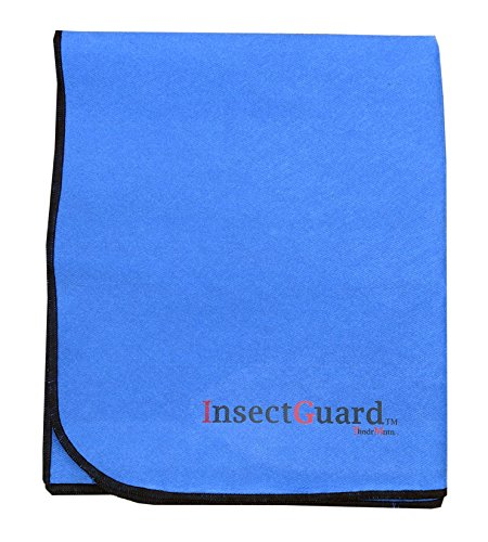 InsectGuard Pets - Permethrin Insect Repellent Treated 80 Inch Long by 60 Inch Wide Cover (Blue)