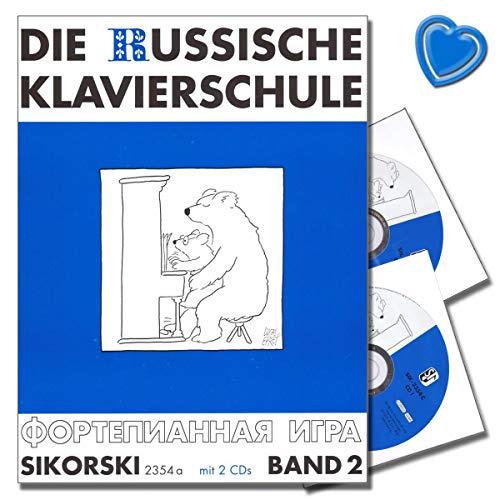La Escuela De Piano Ruso de banda 2–Con 2CDs y con Bunter herzförmiger–Partituras sik2354a–9783935196918 por Hans Sikorski