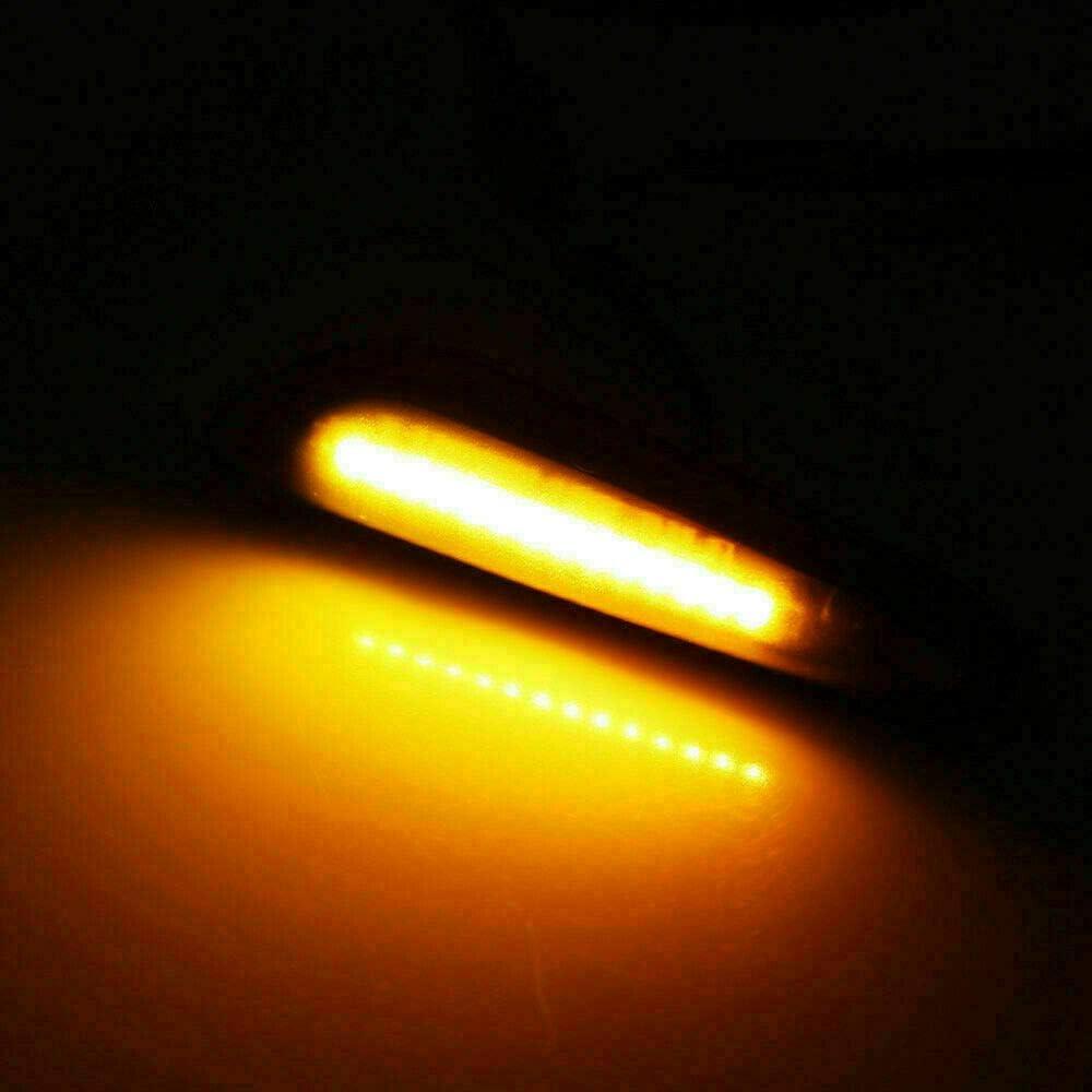 GSRECY Dynamic Amber LED Front Fender Side Marker Light Sequential Blinker Turn Signal Lamp For E90 E91 E92 E93 E46 E60 E53 X3 E83 X 1 E84 E81 E82 E87 E88,Smoke Lens