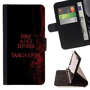 Momo Phone Case / Flip Funda de Cuero Case Cover - Fuego y Sangre Targaryen;;;;;;;; - HTC One A9