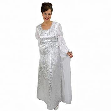 Traje de Cenicienta, talla L, vestido de novia blanco vestido de bola cuento Carnaval