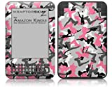 Sexy Girl Silhouette Camo Pink - Decal Style Skin fits Amazon Kindle 3 Keyboard (with 6 inch display)