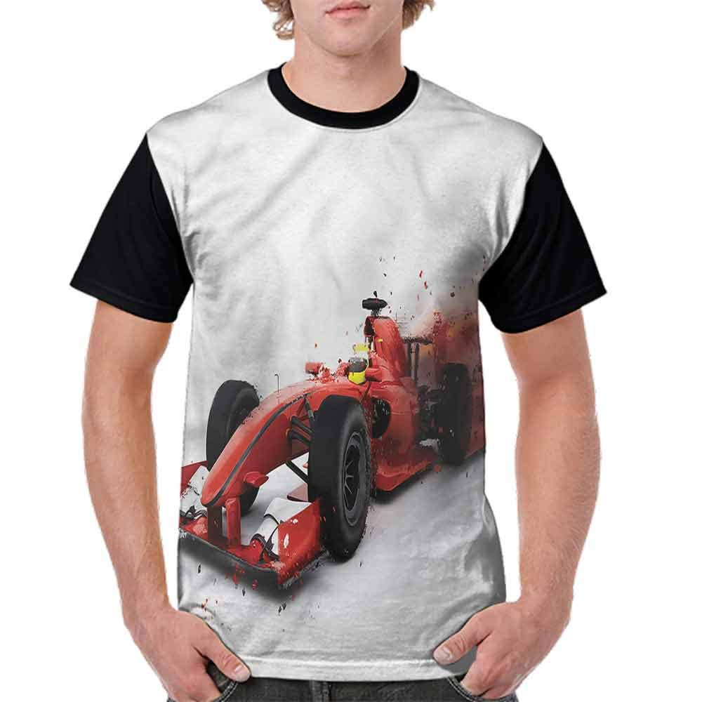 Casual Short Sleeve Graphic Tee Shirts,Formula 1 Auto Racing Fashion Personality Customization