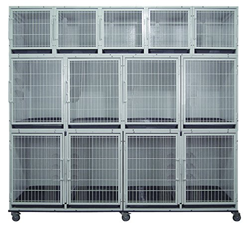 Cove Products 11 or 13 Unit Powdercoated Cage Bank - Bank Cage Unit