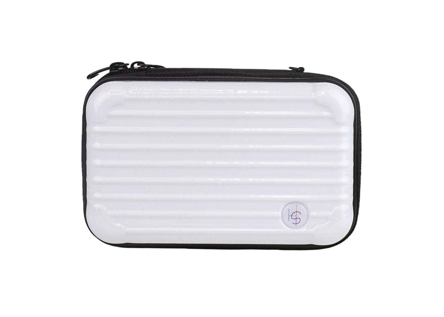 Somewhere Haute Mini Hard Shell Cosmetic Case White