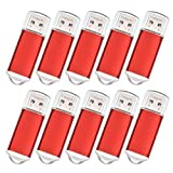 20PCS Bulk Pen Drives 256MB, USB 2.0 Memory Stick, Datarm Red Small Storage for Company Conference