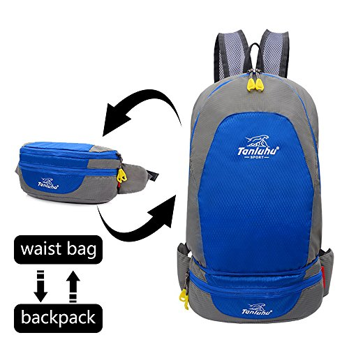LGC Products Foldable Backpack Lightweight-Packable Backpack,Waist Bag-Pack,Handy Foldable Hiking Daypack is Suitable for Run,Camping, Cycling, Outdoor-Sport Backpack
